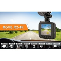 Rove R2-4K Dash Cam Built in WiFi GPS Car Dashboard Camera Recorder