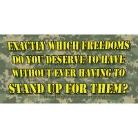 """""""Which Freedoms"""" Sticker"""