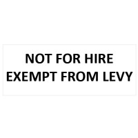 NOT FOR HIRE Sticker